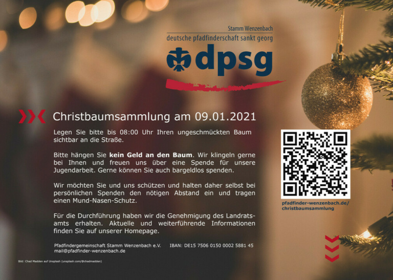 Flyer Christbaumsammlung 2021